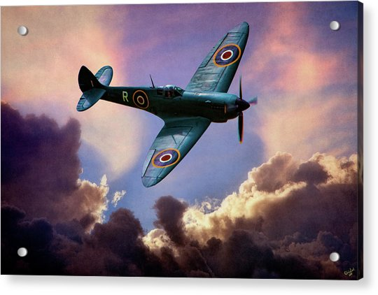 Acrylic Print featuring the photograph The Supermarine Spitfire by Chris Lord