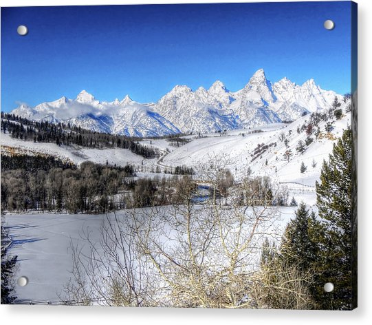 The Tetons From Gros Ventre Valley Acrylic Print
