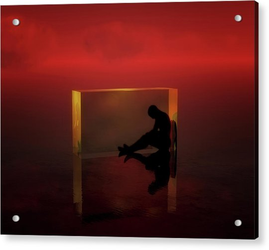 Acrylic Print featuring the mixed media The Thinker by Jan Keteleer