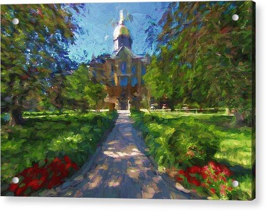 The University Of Notre Dame Acrylic Print
