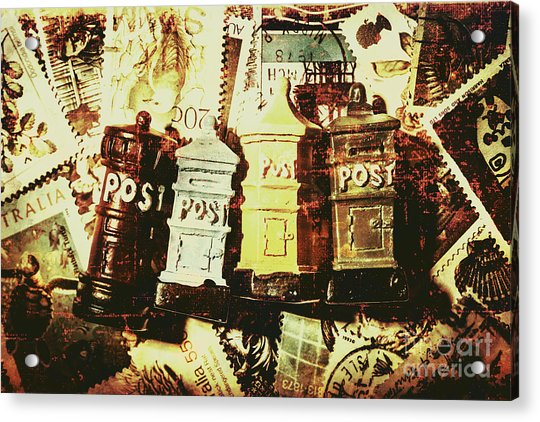 The Vintage Postage Card Acrylic Print