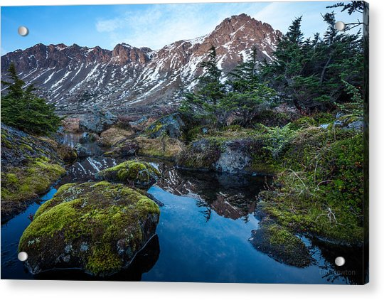 Acrylic Print featuring the photograph The Wedge In Late Autumn by Tim Newton