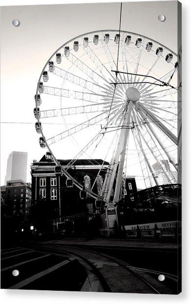 The Wheel Black And White Acrylic Print