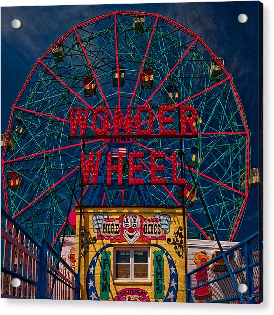 Acrylic Print featuring the photograph The Wonder Wheel At Luna Park by Chris Lord