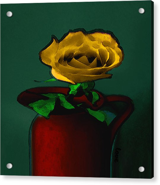 The Yellow Rose Painting Acrylic Print