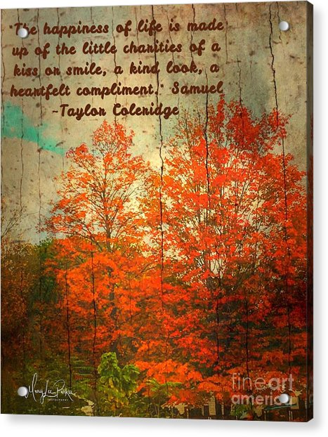 The Happiness Of Life By Taylor Coleridge Acrylic Print
