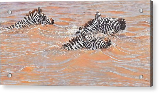 Acrylic Print featuring the painting This Way Son by Alan M Hunt