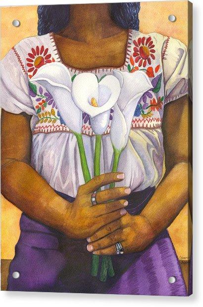 Three Calla Lilies Acrylic Print
