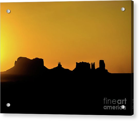 Three Sisters Backlight Acrylic Print