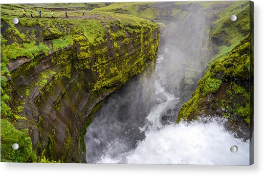 Thundering Icelandic Chasm On The Fimmvorduhals Trail Acrylic Print
