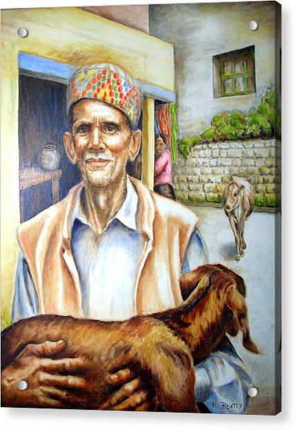Tibetan Refugee Dharamsala Acrylic Print