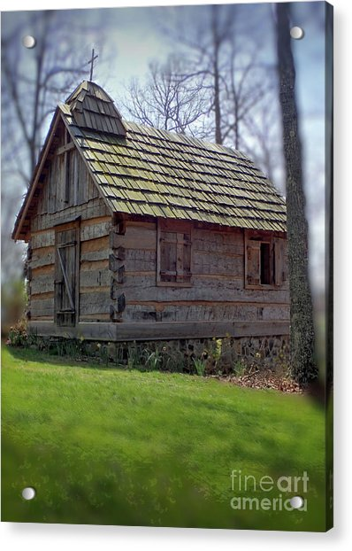Tom's Country Church And School Acrylic Print