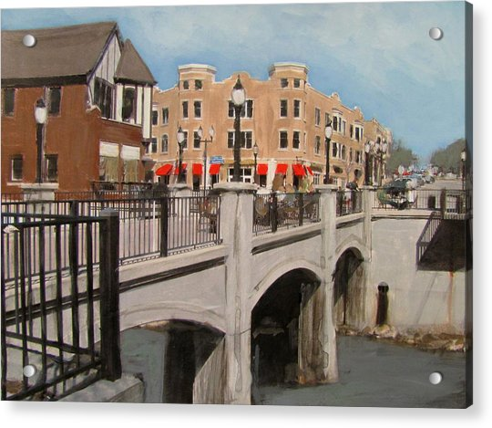 Tosa Village Bridge Acrylic Print