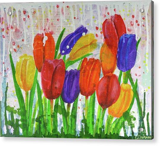 Totally Tulips Acrylic Print