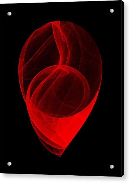Touched Stone II Acrylic Print by Robert Krawczyk