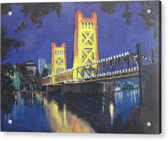 Tower Bridge Sacramento Painting By Jack Warren