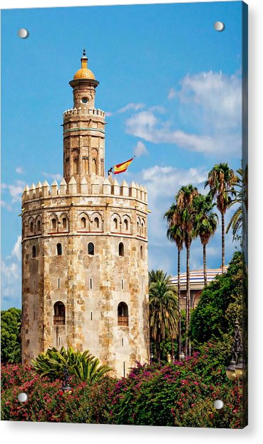 Tower Of Gold Acrylic Print