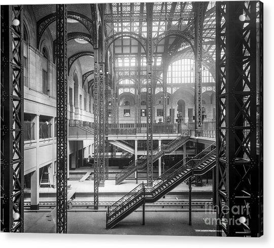 Track Level And Concourses Pennsylvania Station New York Acrylic Print