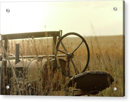 Tractor Sunrise Acrylic Print