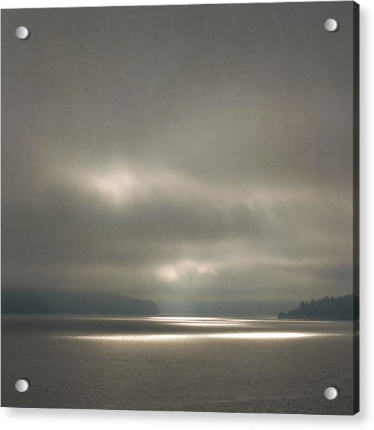 Acrylic Print featuring the photograph Trail Of Light by Sally Banfill
