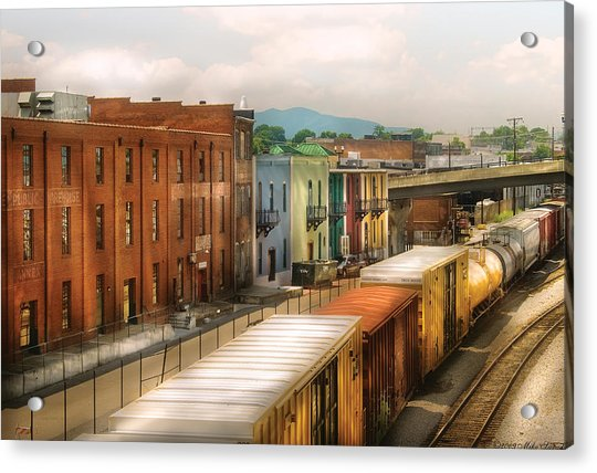 Train - Yard - Train Town Acrylic Print