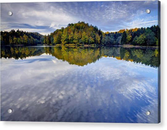 Trakoscan Lake In Autumn Acrylic Print