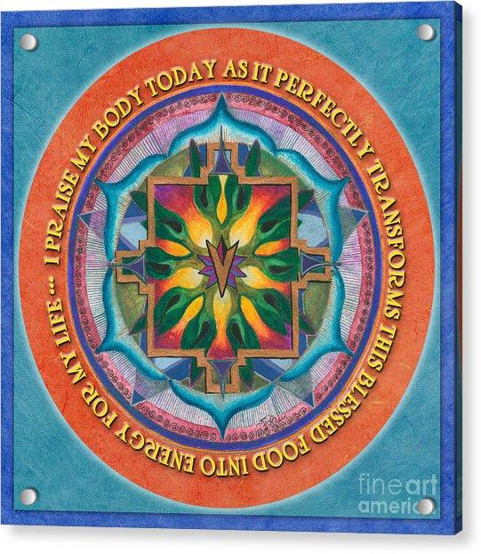 Transformation Mandala Prayer Acrylic Print
