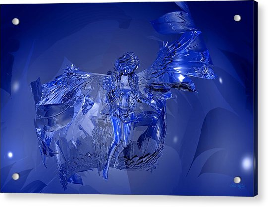 Transparent Blue Angel Acrylic Print