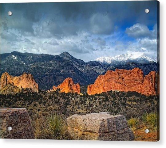 Treasures Of Colorado Springs Acrylic Print by Tim Reaves