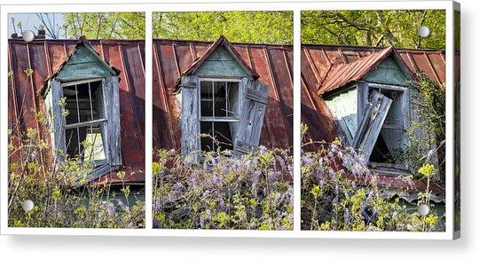 Triptych Windows Acrylic Print