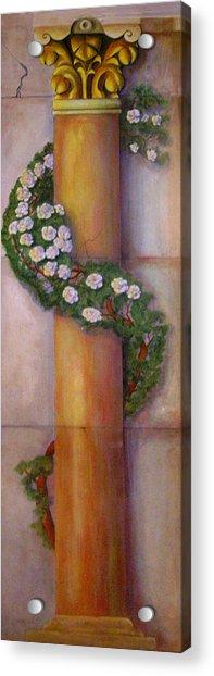 Trompe L'oeil  Column Acrylic Print