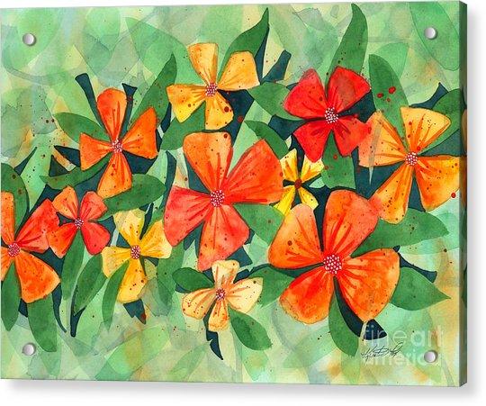 Tropical Flower Splash Acrylic Print