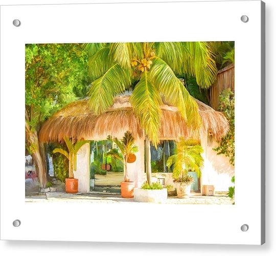 Tropical Hut Acrylic Print