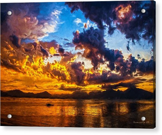 Tropical Twilight I Acrylic Print