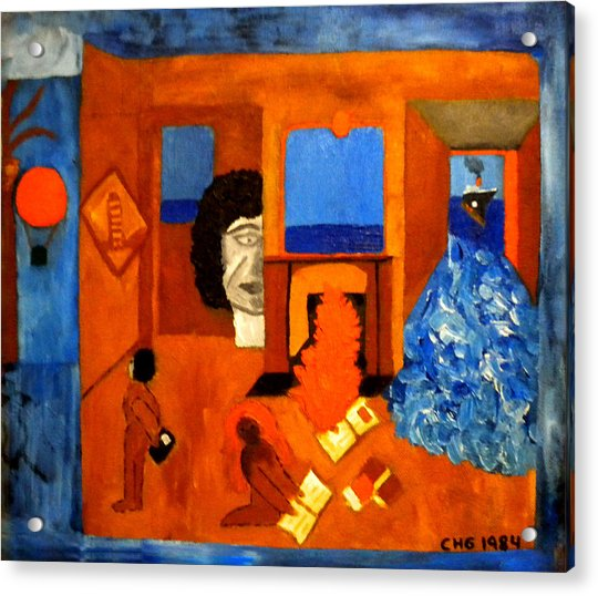 Acrylic Print featuring the painting Trying To Find The Way Out Or Is It Better To Stay   by Colette V Hera  Guggenheim