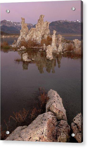 Tufa And Mountains Acrylic Print