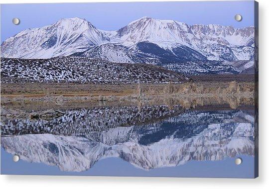 Tufa Dawn Winter Dreamscape Acrylic Print