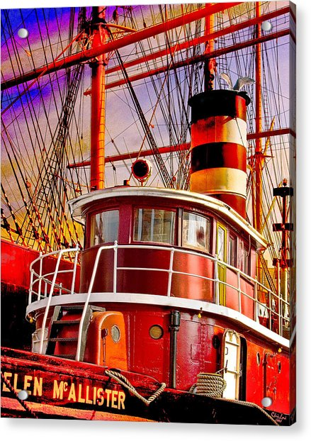 Acrylic Print featuring the photograph Tugboat Helen Mcallister by Chris Lord