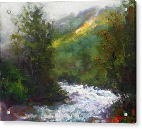 Acrylic Print featuring the painting Turbulence by Talya Johnson