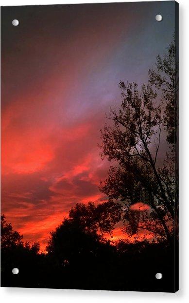Twilight Fire Acrylic Print