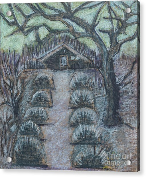 Twilight In Garden, Illustration Acrylic Print