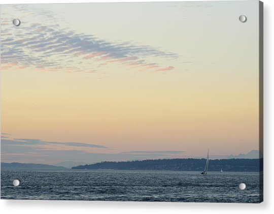 Twilight Moment In Puget Sound Acrylic Print