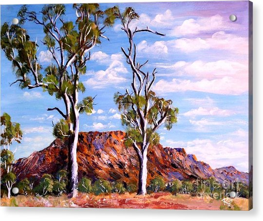 Twin Ghost Gums Of Central Australia Acrylic Print