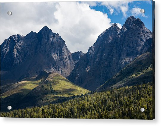Acrylic Print featuring the photograph Twin Peaks In Mid-summer by Tim Newton