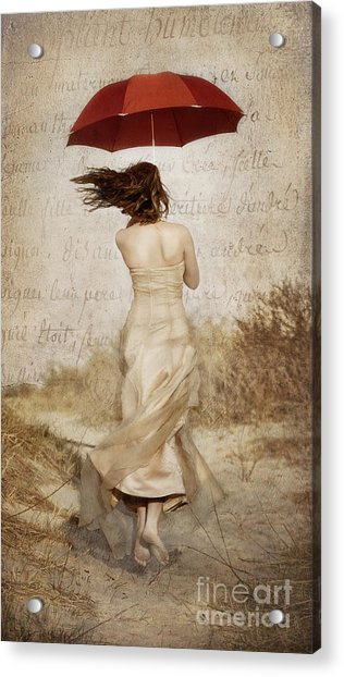 Twirling Painted Lady Acrylic Print