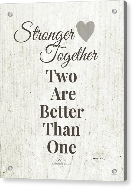 Two Are Better Than One- Art By Linda Woods Acrylic Print