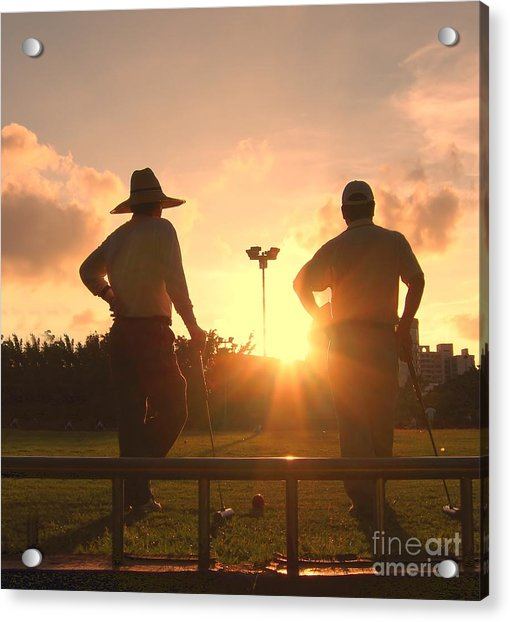 Two Croquet Players Acrylic Print