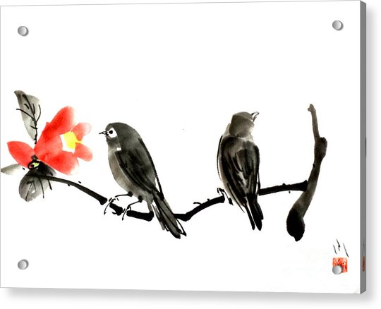 Two Little Birds Acrylic Print