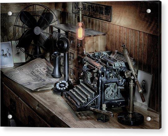 Typewriter Manifesto  Acrylic Print