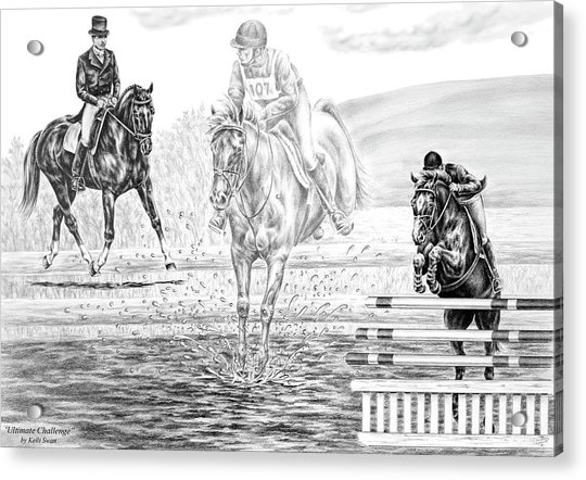 Ultimate Challenge - Eventing Horse Print Acrylic Print